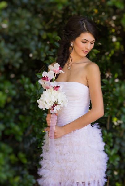 Kelly in a wedding dress