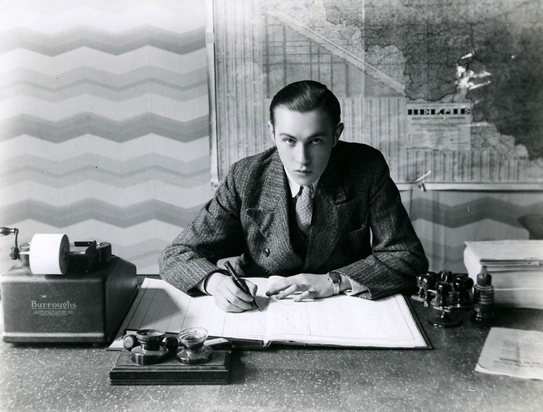 A clerk at his desk (1930s)