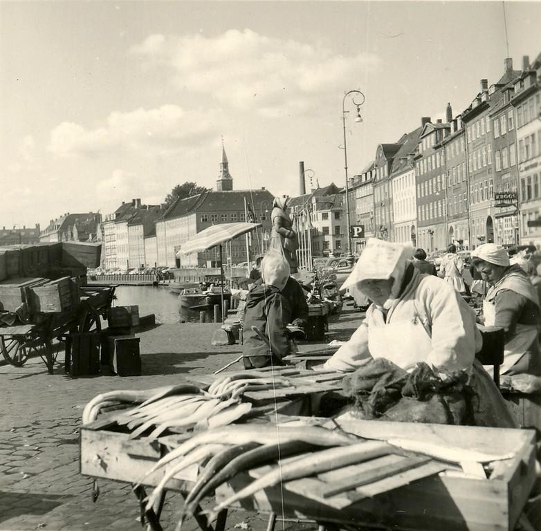 Fish market in Copenhagen, 1959
