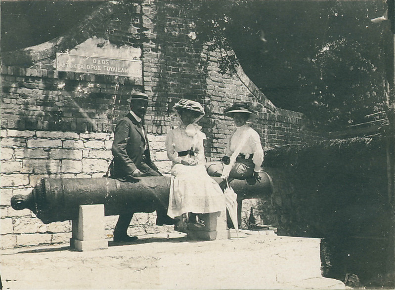 Relaxing on Corfu, 1910