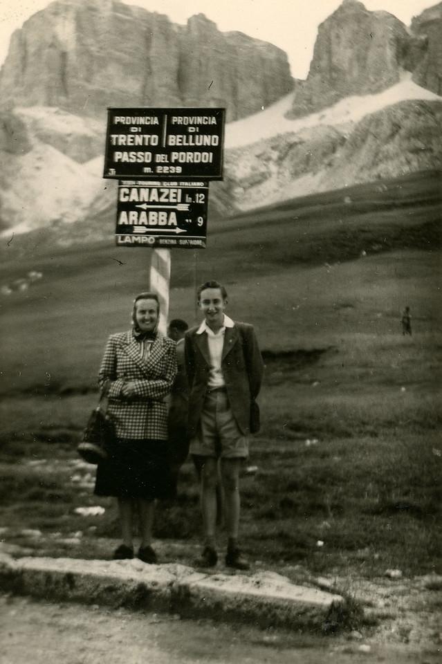Pordoi Pass, 1950