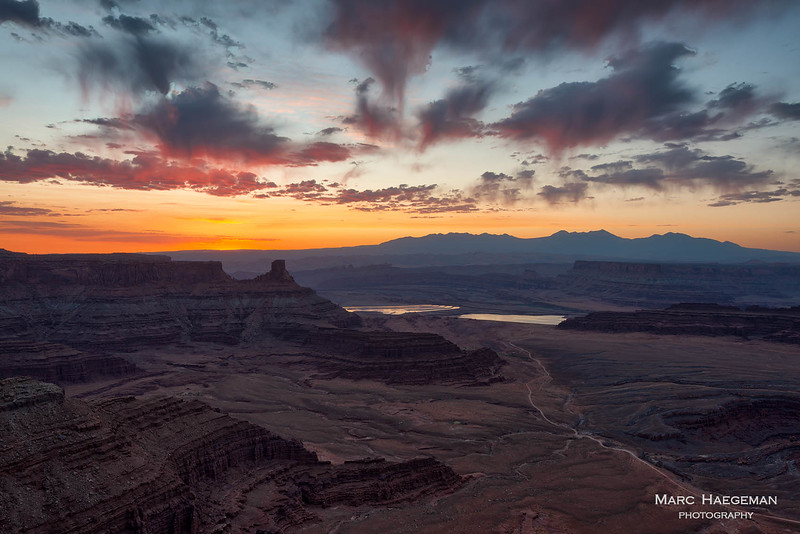 Seconds before sunrise at Dead Horse Point Overlook