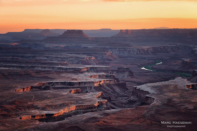 Last light on Green River