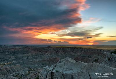 Summer sunset at the Pinnacles Overlook