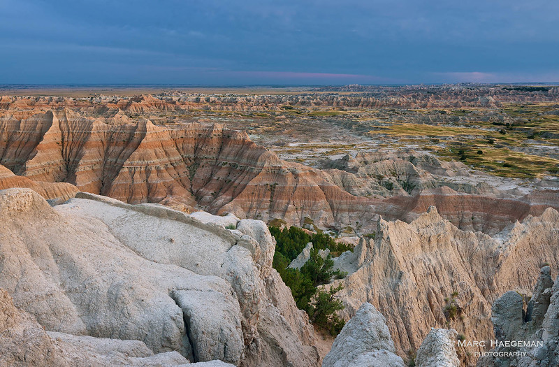 Last light on the Badlands
