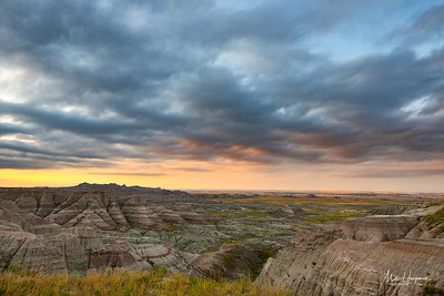 Morning grey over the Badlands