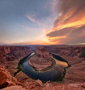 Flaming canyon