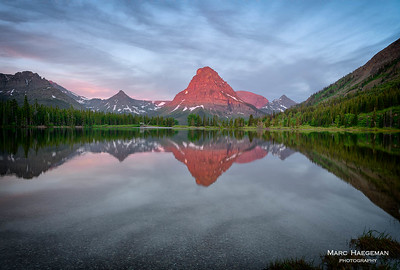 Alpenglow on Pray Lake