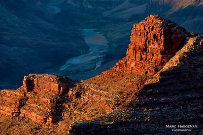Cardenas Butte and the Colorado River