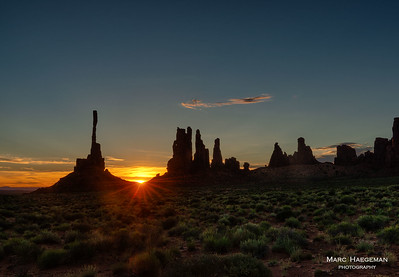 Daybreak in Monument Valley
