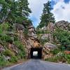 Peephole to Mount Rushmore on the Iron Mountain Road