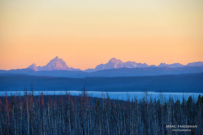 The Grand Tetons seen from Yellowstone
