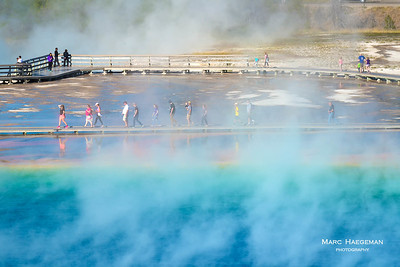 Walking the Grand Prismatic, Yellowstone National Park