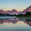 Dawn at Oxbow Bend in the Grand Teton National Park