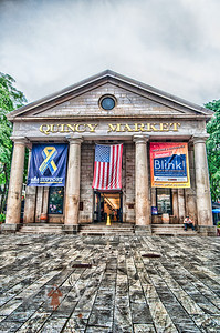 Running to the other side in the same downpour, I was able to get a shot Quincy Market with a crown in front in front of it. Just one lone gentleman reading his book on the step.Thank you for being there. You bring life to an otherwise empty place (as long as you count the insane photographer right in the middle of the whole thing.)