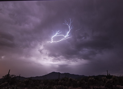 Lightning above Wasson Peak #2