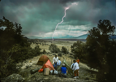 Lighning and Campers, Arkansas Valley, Colorado