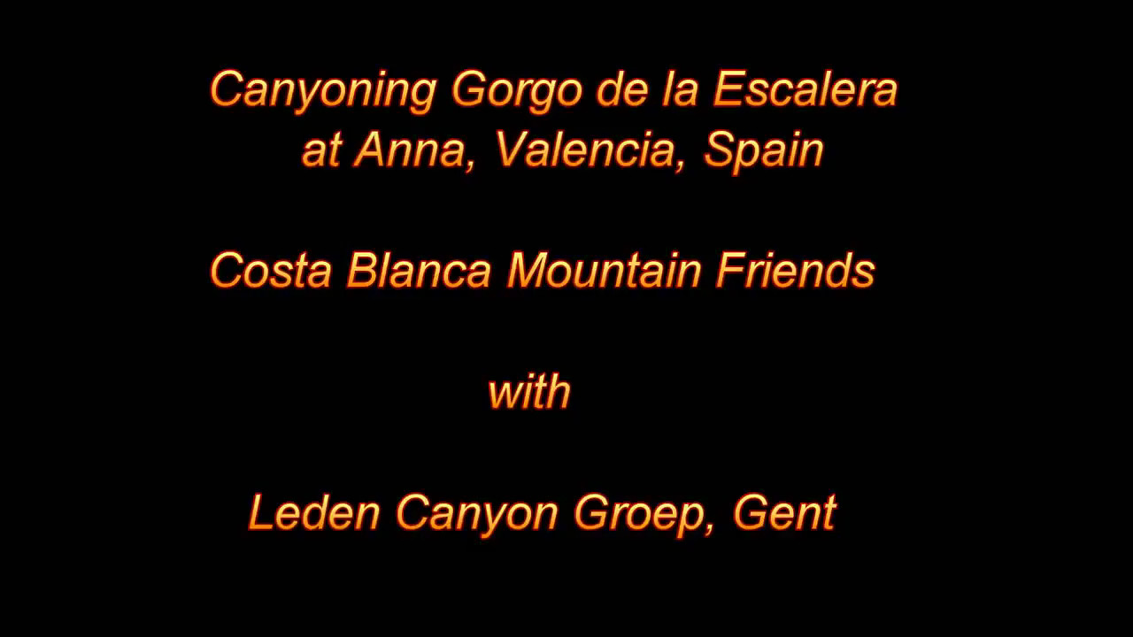 Canyoning Gorgo de la Escalera at Anna, Valencia, Spain