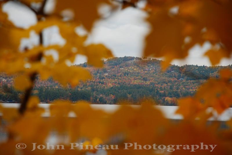 Fall Foliage along Crystal Lake - Harrison, Maine<br /> FO_0032-DSC_5340