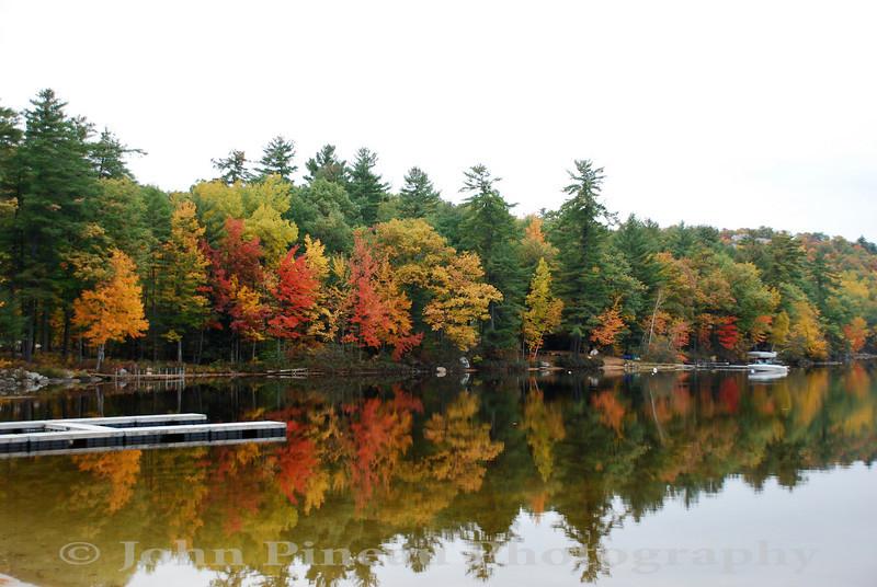 Fall Foliage along Crystal Lake - Harrison, Maine<br /> FO_0052-DSC_5337