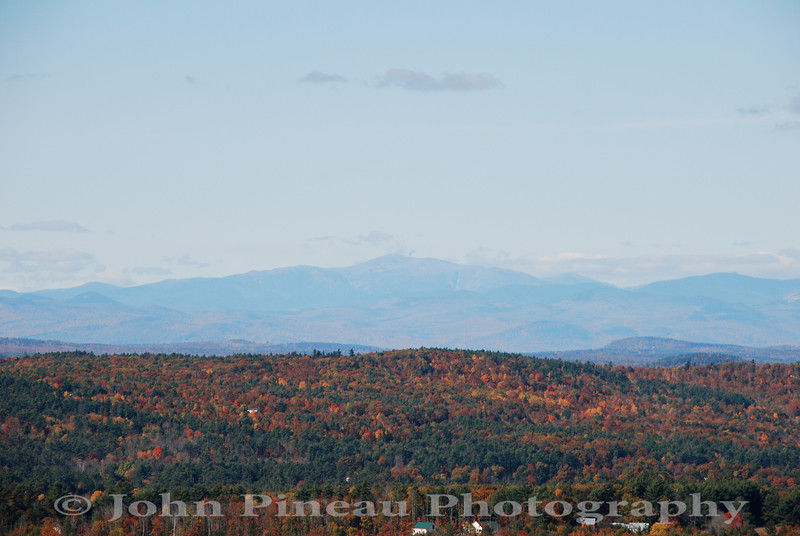 Fall Foliage from Hacker's Hill - Casco, Maine<br /> Mount Washington in the distance<br /> FO_0040-DSC_5435