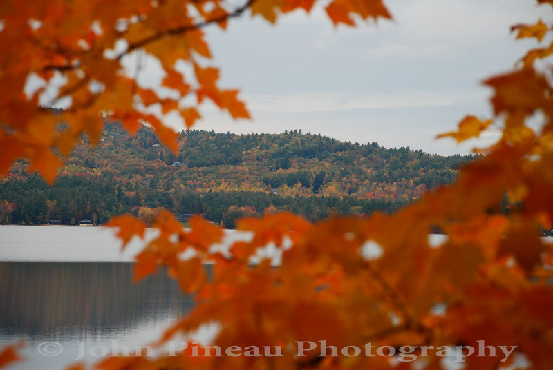 Fall Foliage along Crystal Lake - Harrison, Maine<br /> FO_0033-DSC_5339
