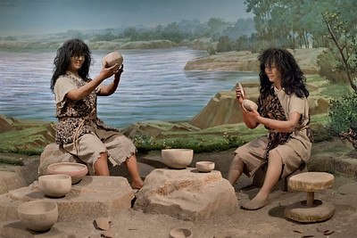 Diorama depicting early pottery craft. Anyang Museum, Anyang, Henan Province.