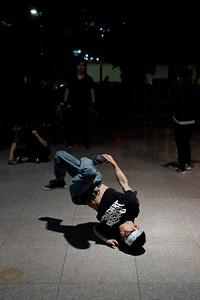 Breakdancers, Metropolitan Plaza, Guangzhou.