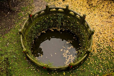 The water well for firefighting at Nanyan Palace, Wudangshan, Hubei, Province.
