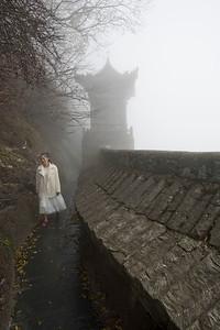 Forbidden City wall around peak of Wudangshan