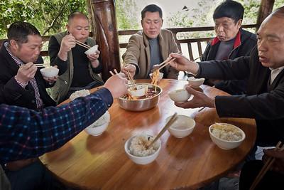 Home-rearing luncheon, Xijiang Qianhu Miao Village, Guizhou Province