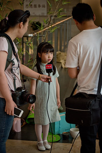 Tea Tournament contestant interviewed by China News Service, Six Dynasties Museum, Nanjing, Jiangsu Province 六朝小茶人邀请赛