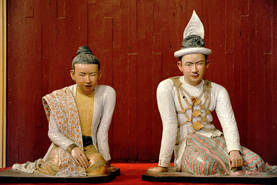 Sculpture of King Thibaw and Queen Supayalat, Mandalay Palace, Mandalay