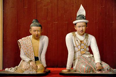 Sculpture of King Thibaw and Queen Supayalat, Mandalay Palace, Mandalay