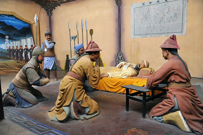 Diorama of the death of Genghis Khan, Xixia Museum, Yinchuan, 2011