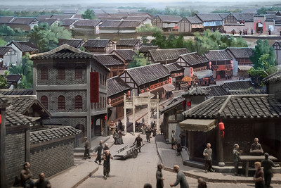 Diorama of old Chengdu street life, Chengdu Musuem