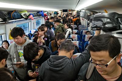 Changsha to Yiyang train, Qingming Jie
