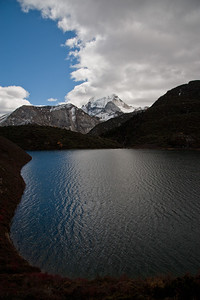Mt. Chenrezig with Frog Lake in foreground, Yading