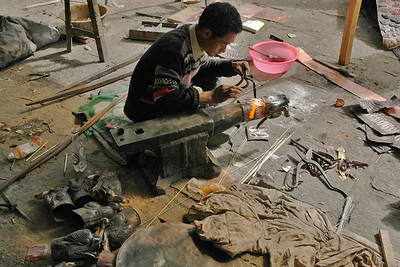 Metalwork for Ramoche Temple, Ancient Fine Art General Restoration Company, Lhasa