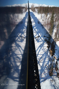Alaska Outtakes--Train reflection.