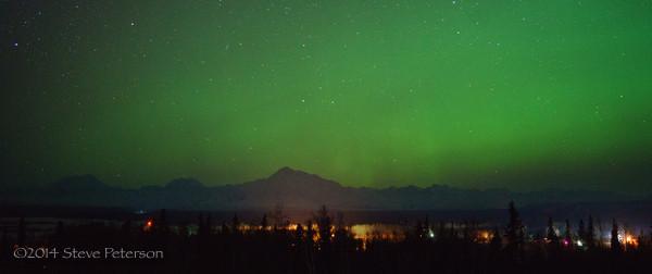 Alaska Outtakes--Aurora over Denali.