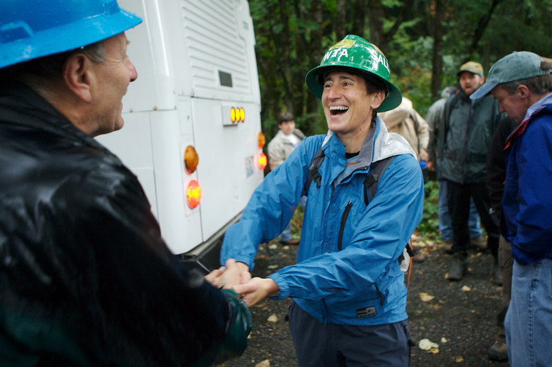 REI new employees (and a few select veterans) work on the Grand Ridge Trail near Issaquah, WA.