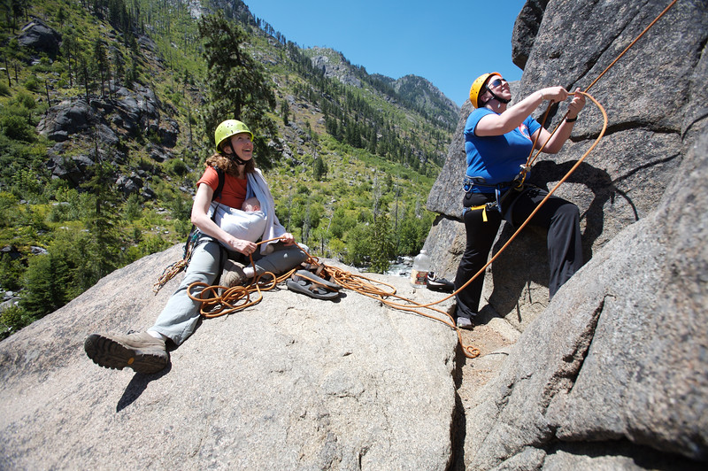 REI's Anderson Award winners go rock climbing off of Icicle Creek near Leavenworth, WA.