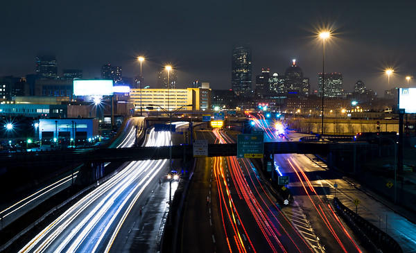 Boston Lights From the Finest Places, 40' over I-93.