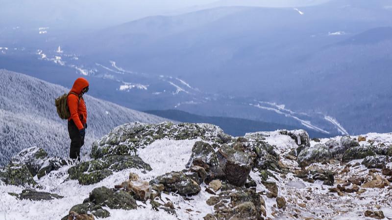 Frozen Franconia Ridge.