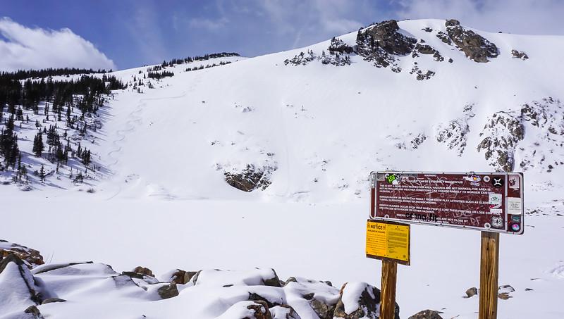 St. Mary's Glacier First Tracks.