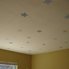 """ceiling of """"baby's room"""" with appliques"""