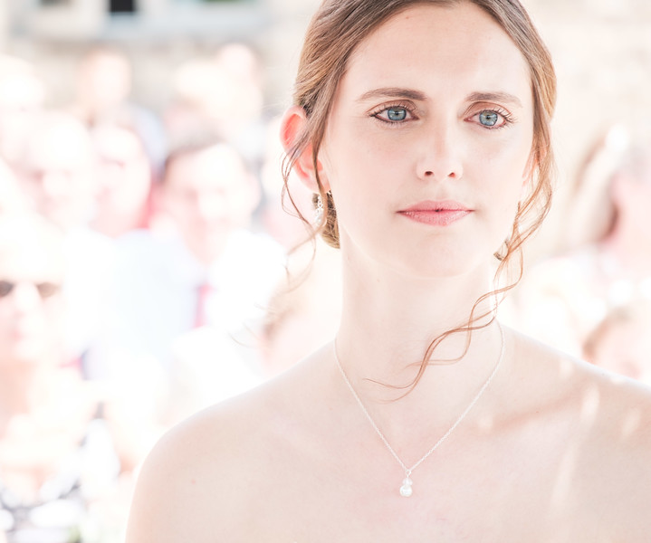 Bride with blue eyes