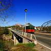 Folsom Trolley crossing Rainbow Bridge