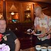 John Kenny and Waiter at Manora's Thai